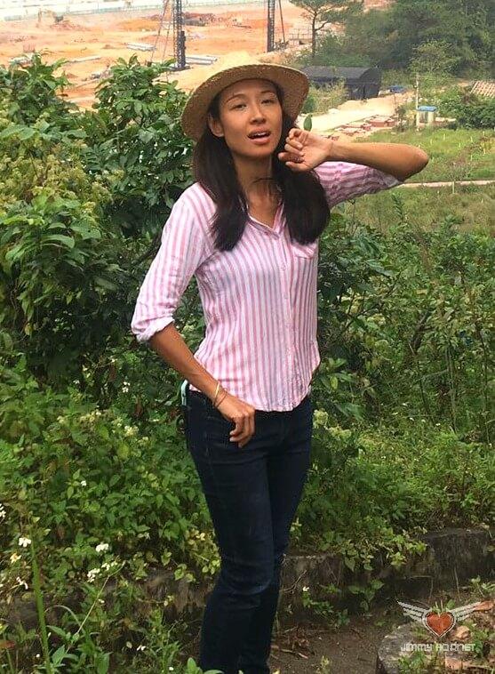 Justine at Flow Organic Farm and Animal Sanctuary