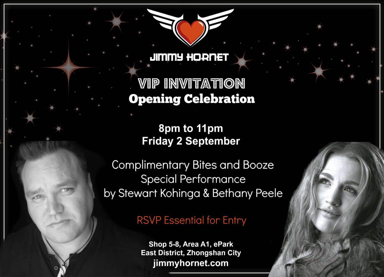 Stewart Kohinga and Bethany Peele VIP Opening of Jimmy Hornet