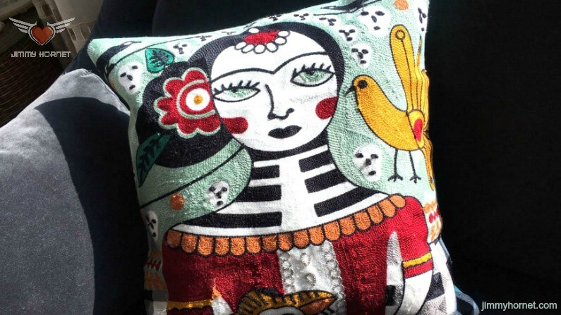 """Alexa"" Boho Embroidered Cushion"