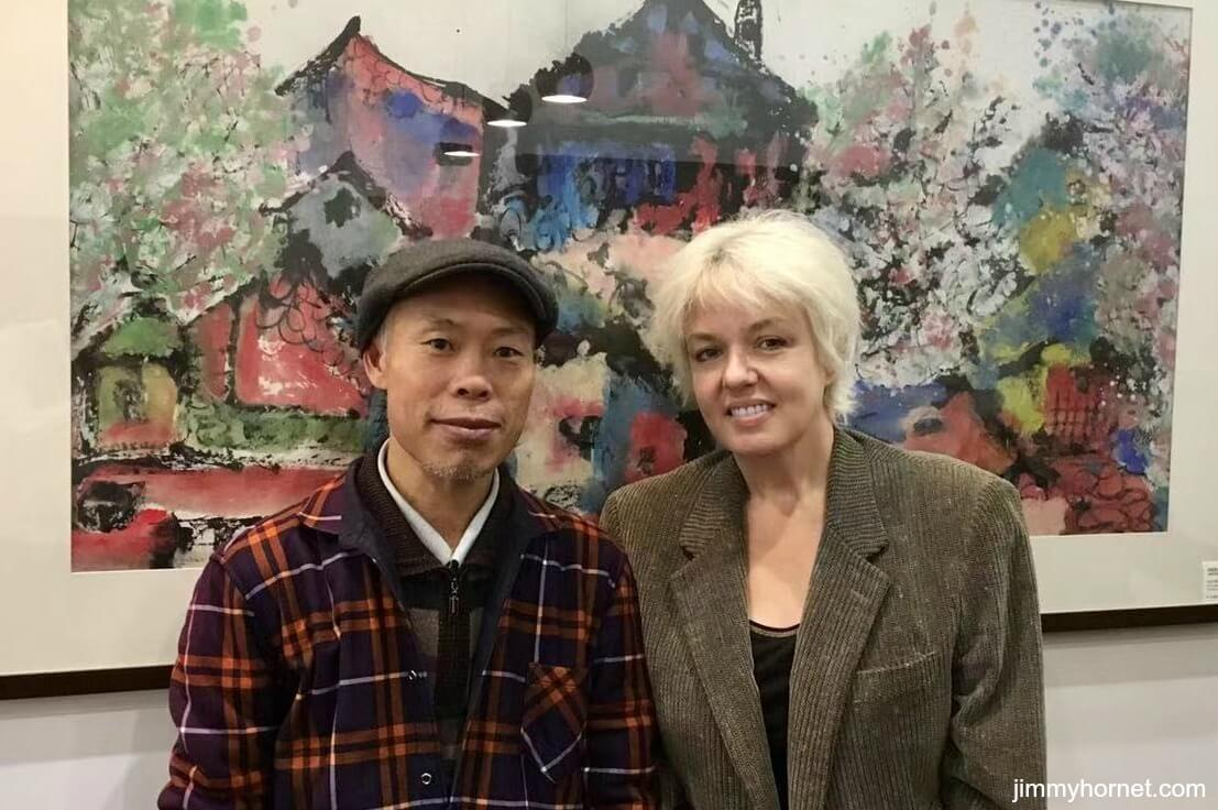 Anthea Palmer (Jimmy Hornet) with Huang Su Ming