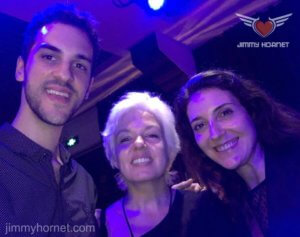 Anthea Palmer with Veronica Nunes and Ricardo Vogt at Jimmy Hornet