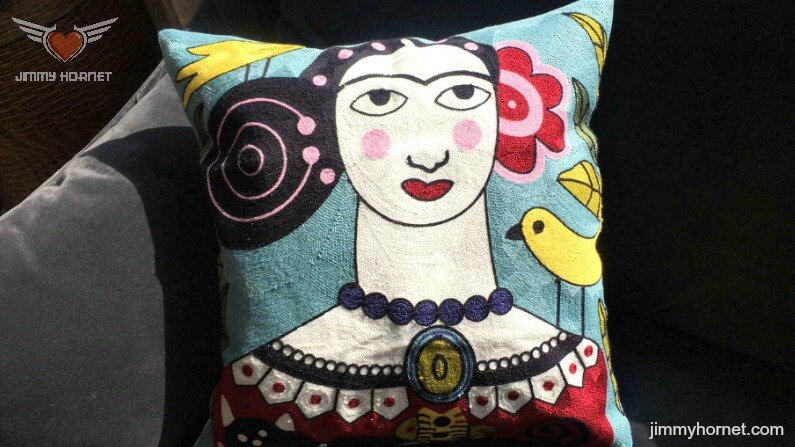 """Bianca"" Boho Embroidered Cushion"