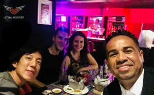 Ricardo Vogt, Veronica Nunes, Diego Oleivera and Justin Siu at Jimmy Hornet