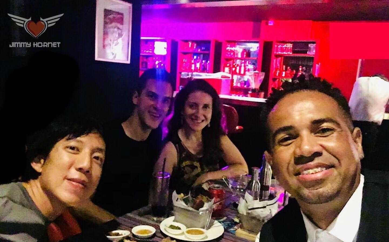 Ricardo Vogt, Veronica Nunes, Diego Oleivera and Justin Siu at Jimmy Hornet