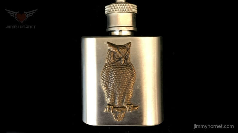Silver Owl Mini Flask