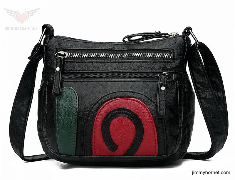 Patched Leather Bag for Jimmy Hornet