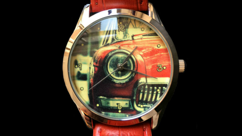 Retro Red Car Watch