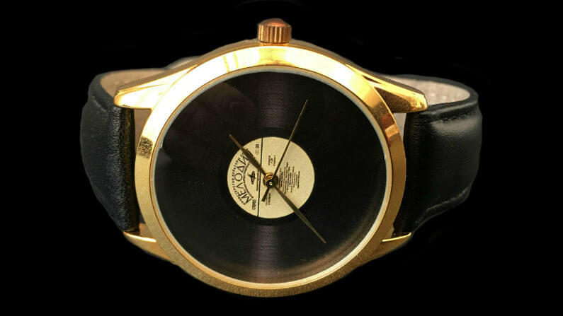 Vinyl Record Wrist Watch