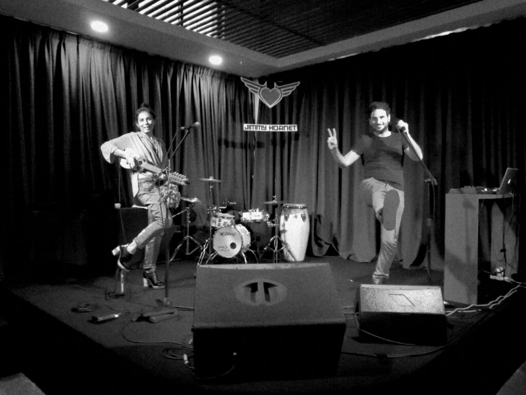 Tonolec - sound check at Jimmy Hornet