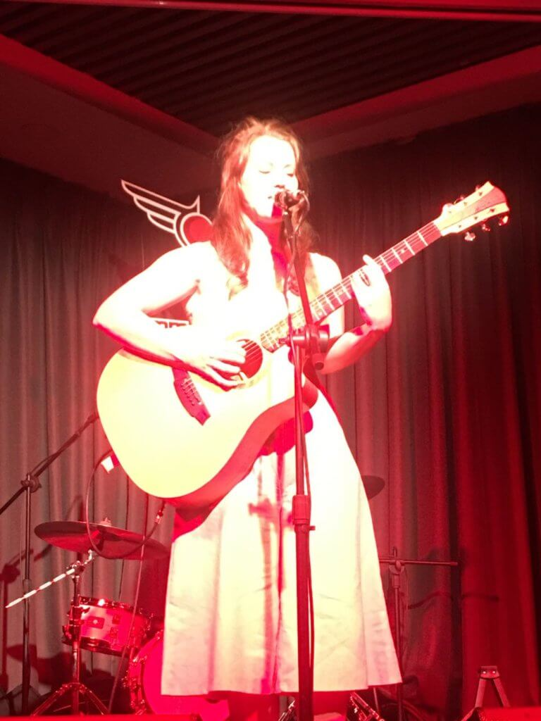 Steph Grace on stage at Jimmy Hornet China