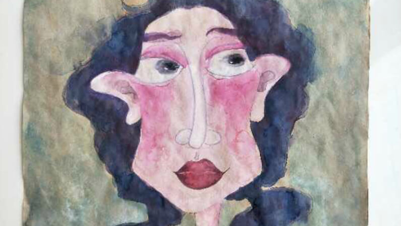 """Rosemary"" Original Painting by Han Jing"