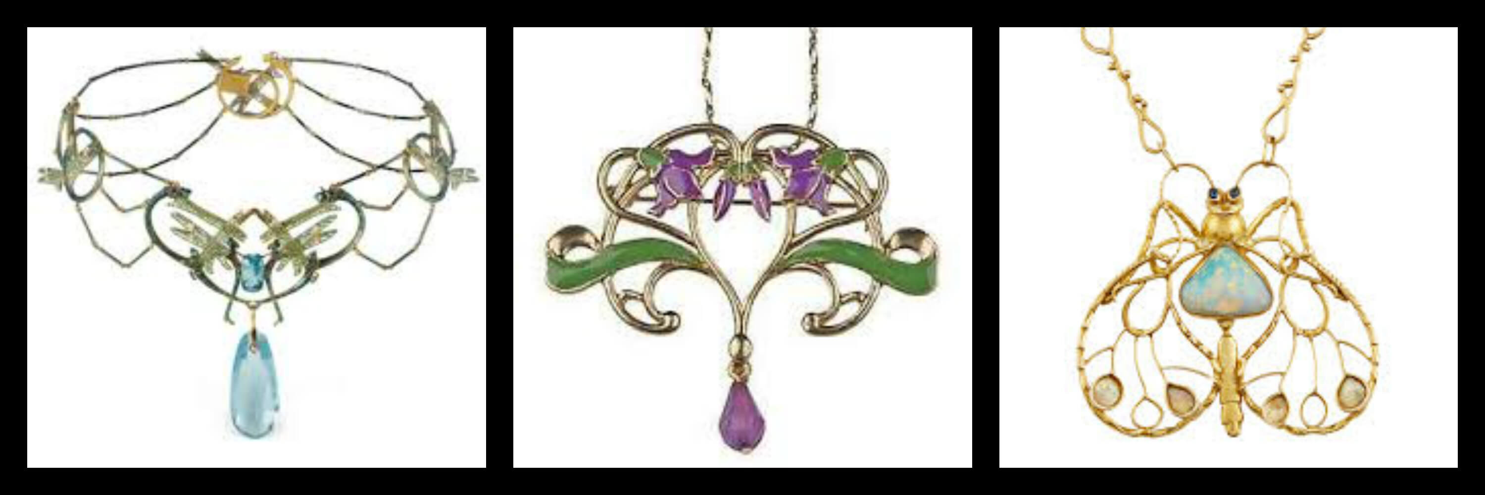 Examples of Art Nouveau Jewellery