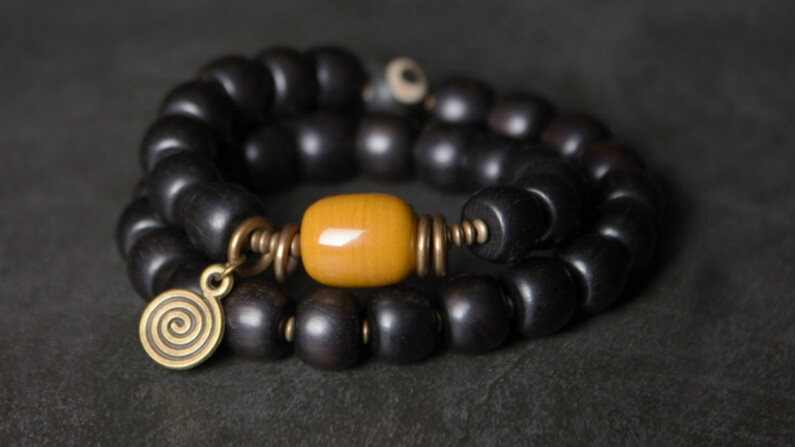 Men's Rosewood Beaded Bracelet
