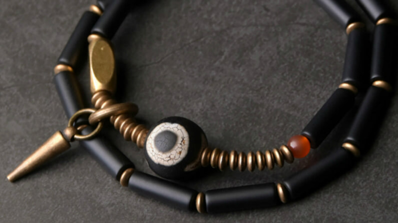 Ebony Beaded Bracelet