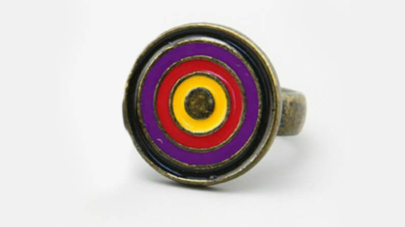 Funky ring with Enamel Design