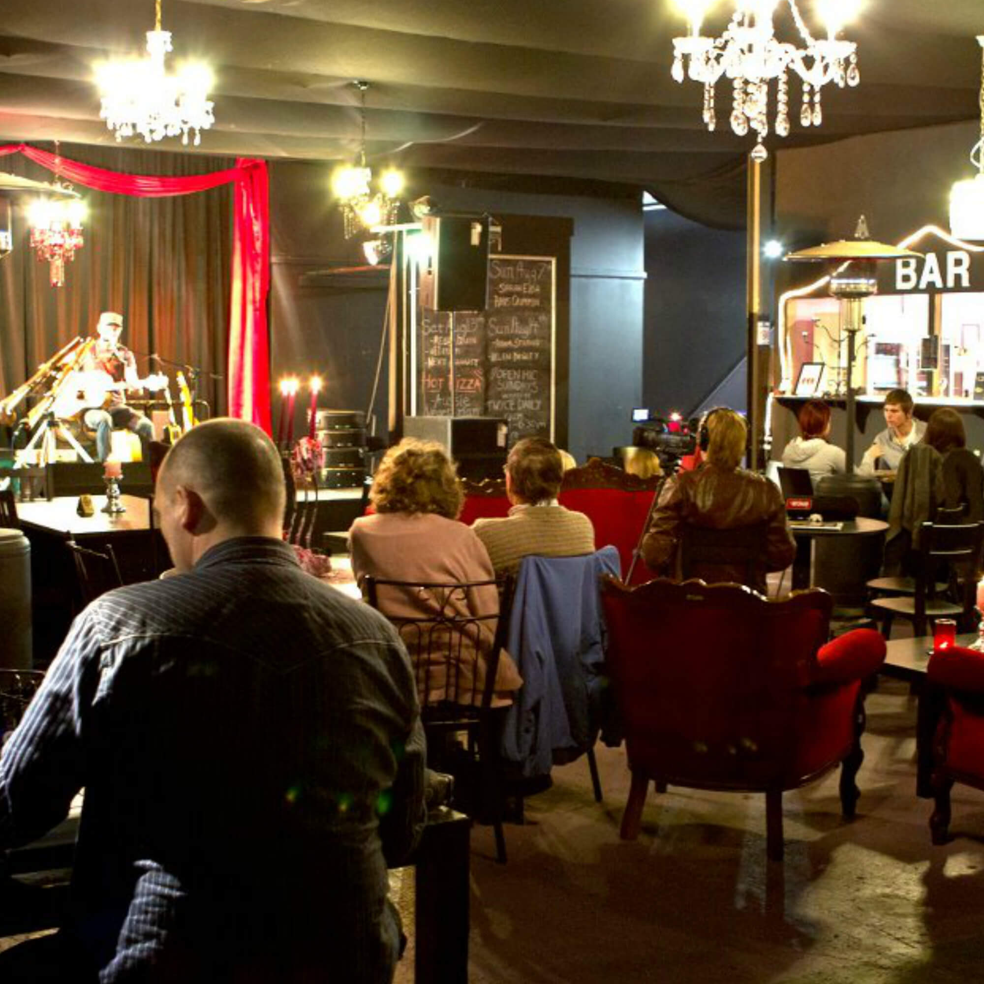 Interior of The Chandelier Room Live Music Venue