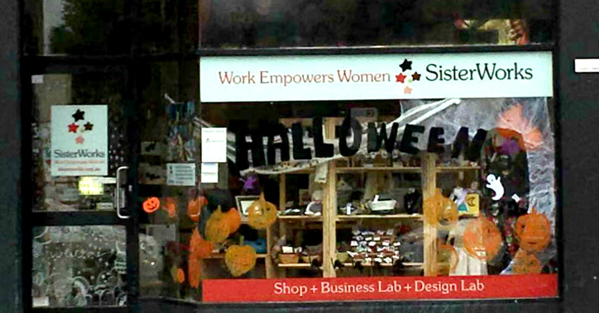 Shop front at SisterWorks Richmond Melbourne