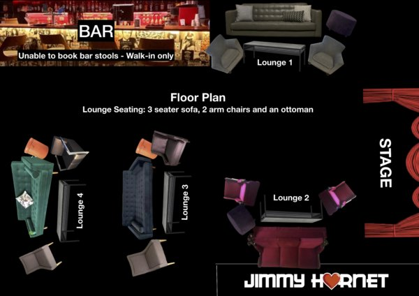 Visual Floor Plan Jimmy Hornet Lounge