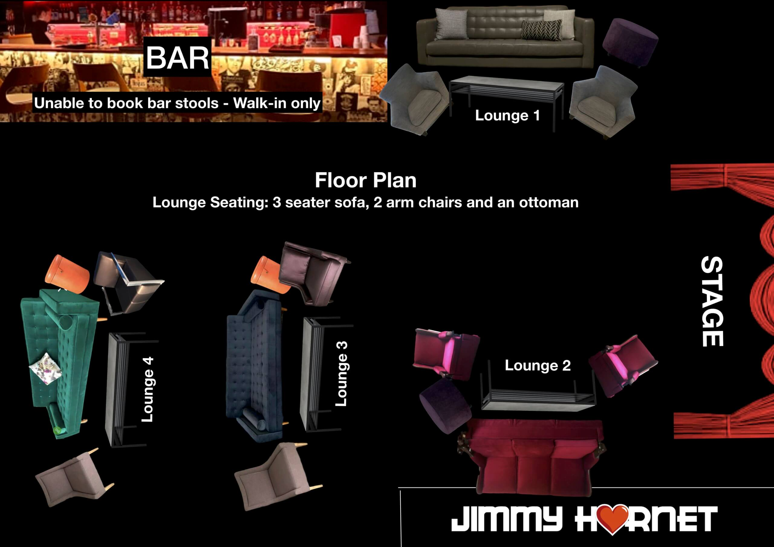 Visual Floor Plan Jimmy Hornet Lounge