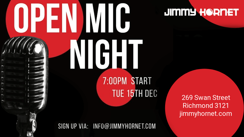 Open Mic Monthly Event